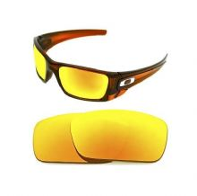 NEW POLARIZED CUSTOM FIRE RED LENS FOR OAKLEY FUEL CELL SUNGLASSES